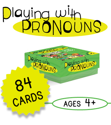 Playing with Pronouns Educational Cards - 84 Card Deck