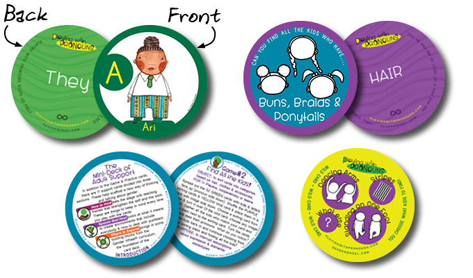 Playing with Pronouns Educational Cards - Samples