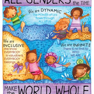All Genders All the TIme Make the World Whole - The Gender Wheel Curriculum