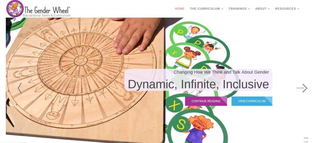 Gender Wheel website